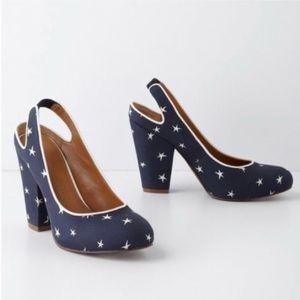 Anthropologie Leifnotes 'Gigi' star print heels
